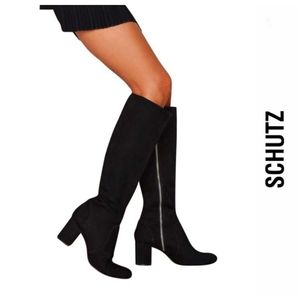 Sexy Chic SCHUTZ Black Suede Boots